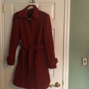 Calvin Klein Wool Coat With Lining.
